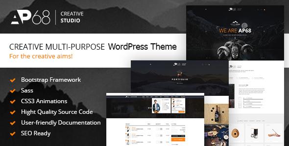 Download AP68 – Creative Multi-Purpose WordPress Theme nulled Preview