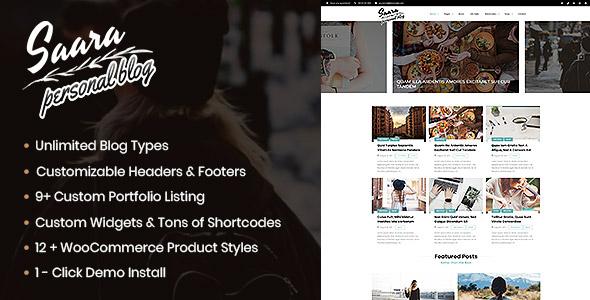Saara Blog - WordPress Blog, Personal Blog - Blog / Magazine WordPress