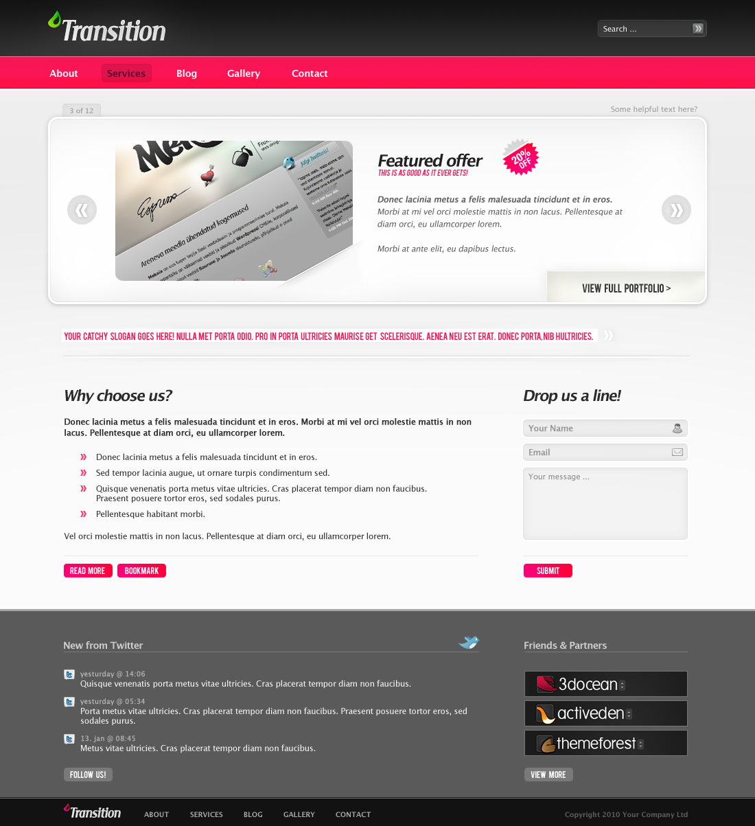 Free Download Transition portfolio/product gallery theme Nulled Latest Version
