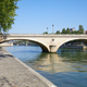 Paris, empty Seine river docks and bridge in a sunny summer day - PhotoDune Item for Sale