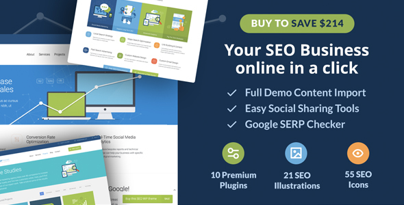 SEO WP: Digital Marketing Agency & Social Media Company Theme - Marketing Corporate