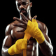 Afro American boxer is wrapping hands with bandage - PhotoDune Item for Sale