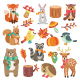 Autumn Animal Characters and Elements - GraphicRiver Item for Sale
