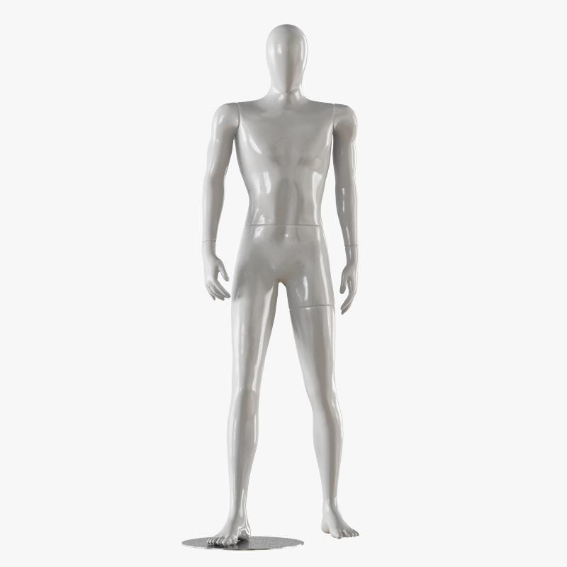 Faceless male white mannequin 17