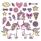 Unicorn Element Collection - GraphicRiver Item for Sale