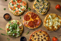 Gourmet Homemade Assorted Wood Fired Pizzas - PhotoDune Item for Sale