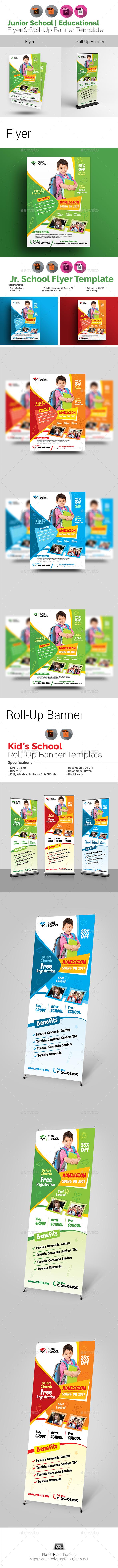 Junior School Flyer with Rollup Bundle