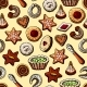 Christmas Seamless Texture with Sweets - GraphicRiver Item for Sale