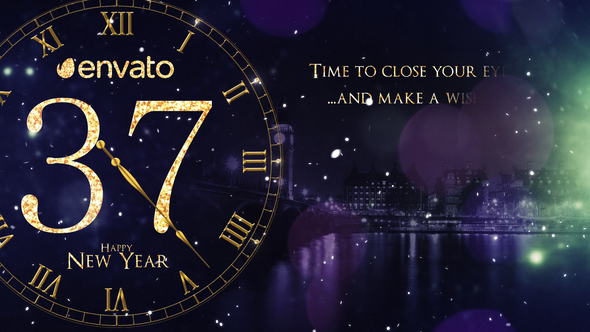 New Year Countdown 2019 After Effects Full HD Video