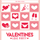Valentines Love Party Flyer - GraphicRiver Item for Sale