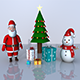 Christmas 3D Model Bundle Pack (4 in 1 pack) - 3DOcean Item for Sale