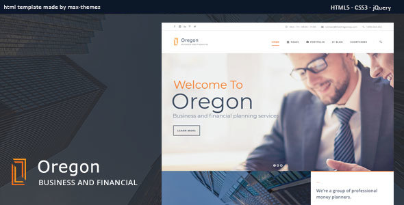 Oregon - Finance HTML Template