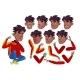 Teen Boy Vector. Rap Battle Singer Teenager. Black - GraphicRiver Item for Sale