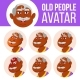 Indian Old Man Avatar Set Vector. Face Emotions - GraphicRiver Item for Sale