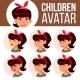 Asian Girl Avatar Set Kid Vector. High School - GraphicRiver Item for Sale