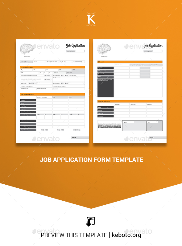 Job Application Form Template from s3.envato.com
