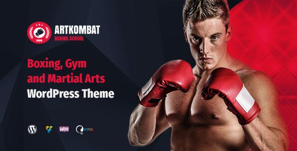 Art Kombat - Boxing School, Martial Arts, Karate, Gym and Fitness WordPress Theme - Business Corporate
