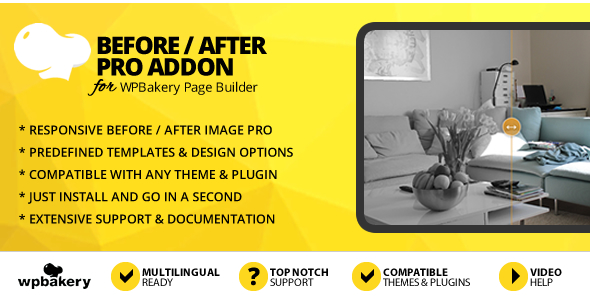 Before After Image Pro Addon for WPBakery Page Builder (formerly Visual Composer) - CodeCanyon Item for Sale