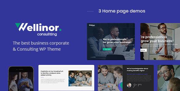 Wellinor - Business Consulting WordPress Theme