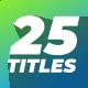Minimal Logo Titles - VideoHive Item for Sale