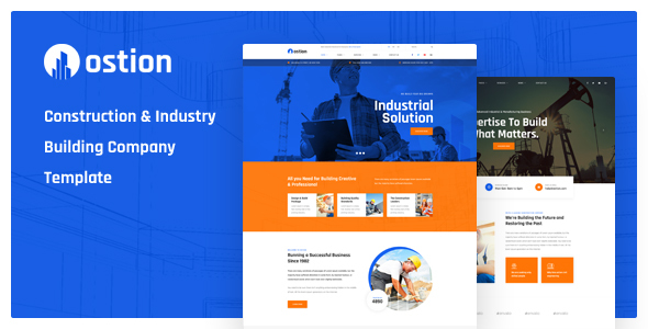 Ostion - Construction & Industry Building Company PSD Template