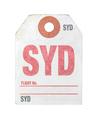 Retro Sydney Airport Luggage Tag - PhotoDune Item for Sale
