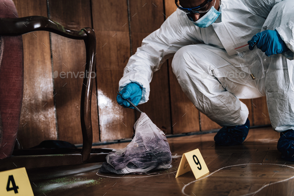 Forensic Investigator Collecting Evidence - Stock Photo - Images