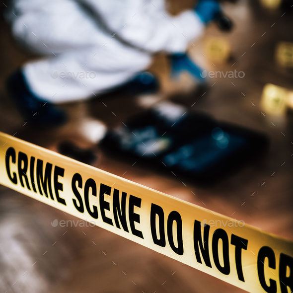 Forensic Science. Police Investigator Collecting Clues - Stock Photo - Images