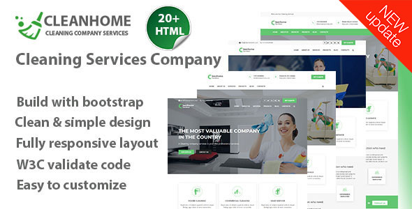 Cleanhome Cleaning Services HTML Template