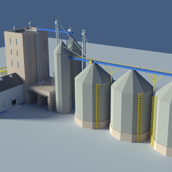Low Poly Cartoony Feed Plant - 3DOcean Item for Sale