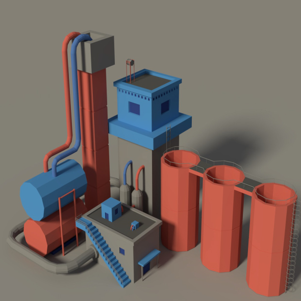 Low Poly Factory 3