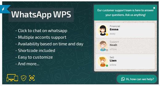 WhatsApp WPS Best support plugin with Whatsapp