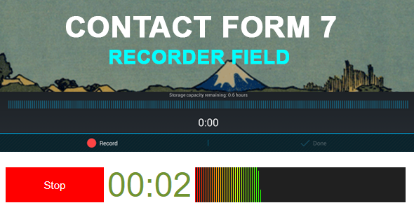 Contact Form 7 Recorder Field - CodeCanyon Item for Sale