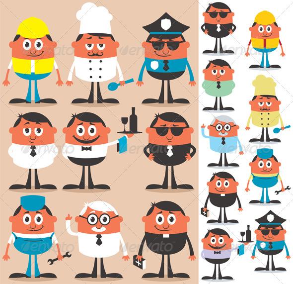 Occupations Set - Characters Vectors