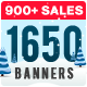 1650 Facebook & Instagram Ad Banners - Holiday Update - GraphicRiver Item for Sale