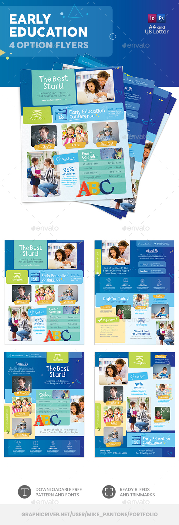 Early Education Flyers – 4 Options