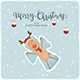 Happy Reindeer Making Snow Angel - GraphicRiver Item for Sale