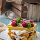 Homemade waffles with raspberries - PhotoDune Item for Sale