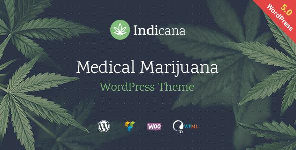 Indicana – Medical Marijuana Dispensary WordPress Theme Free Download