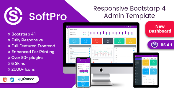 soft pro responsive bootstrap 4 admin dashboard template by themeswdma
