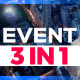 3 in 1 Event Promo // Modern Parallax - VideoHive Item for Sale
