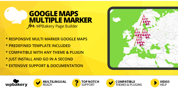 Google Maps With Multiple Markers Addon for WPBakery Page Builder (formerly Visual Composer)