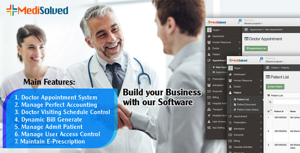 Medisolved Hospital Management Software - CodeCanyon Item for Sale