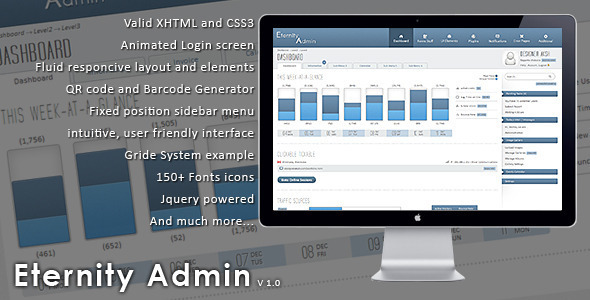 Eternity Admin Theme - Admin Templates Site Templates
