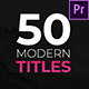 Modern Titles - Essential Graphics | Mogrt - VideoHive Item for Sale