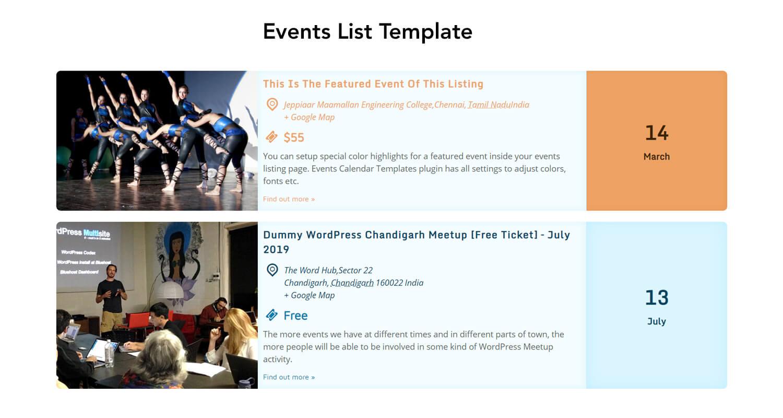 The Events Calendar Shortcode and Templates Pro - WordPress Plugin