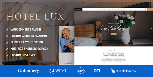 Hotel Lux - Resort & Hotel WordPress Theme - Travel Retail
