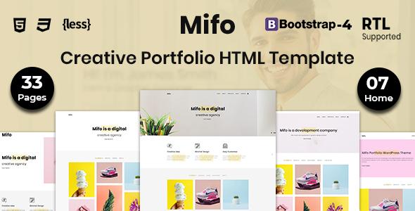 Mifo - Creative Portfolio HTML Template