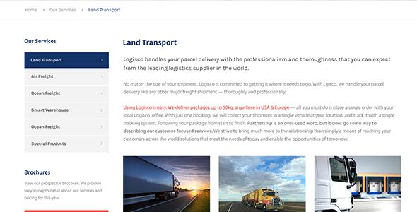 Logisco - Logistics & Transportation WordPress