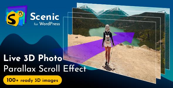 Scenic 3D Photo Parallax WordPress Plugin v1.3 - CodeCanyon Item for Sale
